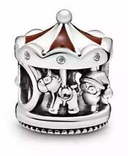 💎 🎀 carrusel de Navidad plata esterlina 925 Bruno pingüino encanto y Bolsa