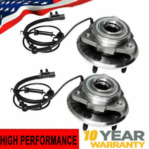 For 2007 2008-2016 Jeep Wrangler JK Pair Front Wheel Bearing Hub Assembly w/ABS