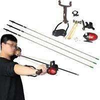 Hunting Fishing Slingshot Folding Wrist Brace Shooting Catapult Archery Arrows