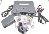 N64 Nintendo 64 Console With Purple Controller/ Jumper Pak/ Power & AV Cables
