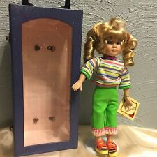 """DanDee Collector Choice 12"""" Doll Carry Case Doll Stand Bisque Porcelain & Fabric"""
