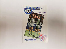 Buffalo Blizzard 1994/95 NPSL Indoor Soccer Pocket Schedule - Goya