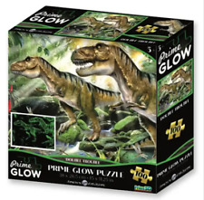 Super 3D Glow in the Dark 100Pc Jigsaw Puzzle - DOUBLE TROUBLE DINOSAUR NEW