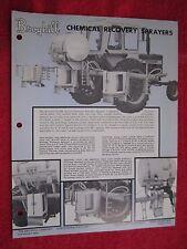 1979 BROYHILL CHEMICAL RECOVERY SPRAYERS BROCHURE