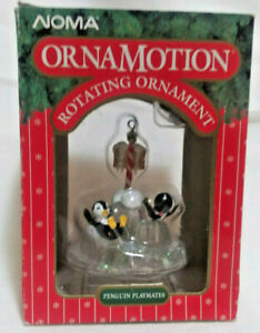 Vintage - Noma OrnaMotion PENGUIN PLAYMATES Rotating Christmas Ornament