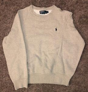 Vintage Polo Ralph Lauren Gray Pullover Crewneck Sweatshirt Size Small