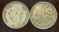 CONGO   BELGE   50 centimes 1922  (  belges )