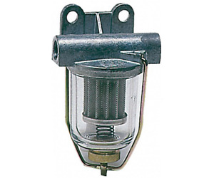 Fuel Filter with Clear Glass Tray Washable Cartridge Max Flow 250LPH Boat Engine
