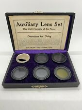 Antique Ideal Duplicator Auxiliary Lens camera 6 lens Set Burke & James Chicago