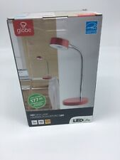Globe Electric Company 12644 LED Desk Lamp, Red 1 New