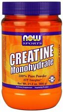 Now Foods Sports CREATINE Micronized Monohydrate, 21.2 oz (600g) - 120 Servings