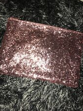 Pink Shimmery Sparkly Glitter Purse Wallet Zip Holdall Cosmetics Money Holder