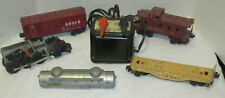 6 Piece Lot Post War Lionel Engine Transformer 6014 Bosco Car 6017 Caboose Other