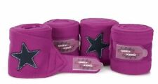 Eskadron Nici Star Fleece Bandages magenta pink full size travel stable polo