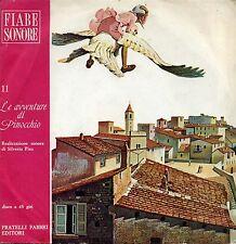 LE AVVENTURE DI PINOCCHIO FIABE SONORE FABBRI 45 GIRI EX EX 1968