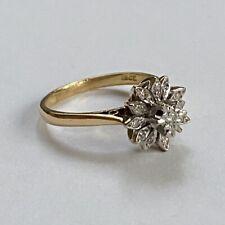 Vintage 18ct Gold Diamond Cocktail Ring Size M