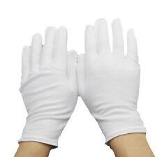 Men Women Etiquette White Cotton Gloves Waiters/Drivers/Emcee/Workers Mittens
