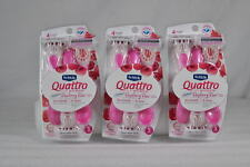 9 Total Schick Quattro 4 Disposable Razor w/Raspberry Scented (3 Packs of 3)