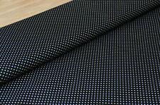 Webware Baumwolle Mini Dots SCHWARZ Punkte  *50 cm x 140 cm ***