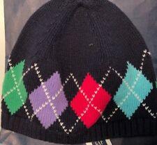 Gap Kids Argyle Navy Hat Cap Blue Pink Green + Free Bag Cute! SZ S / M ❤️