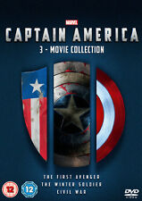 Captain America Trilogy: 1 2 & 3 Movie Complete Box Set Collection | New | DVD