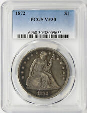 1872 $1 Seated Liberty Dollar PCGS VF30
