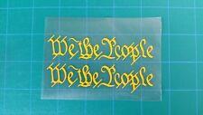 "We The People 2a High Heat VinylCerakote Duracoat Firearm Stencil 1.25"" x 5.75"""