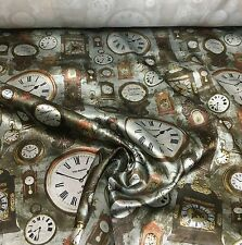 TED BAKER SUPER LUXURIOUS CLOCK PRINT FABRIC 6 METRES