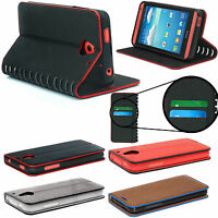 Slim Luxury Leather Stand Stylish Wallet Card Case Cover Sony Xperia X Compact