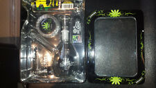 GLASS WATER SMOKING PIPE WITH WATER PERCOLATER