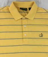 MASTERS Amen Corner Augusta National PGA Striped Golf Polo Shirt Mens L Large
