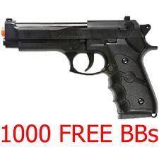 Airsoft Beretta M9 Spring Pistol Handgun Gun Real Scale M757B Free BBs Prop NEW