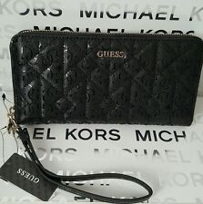 Guess Malena Black Large Zip Around Wallet