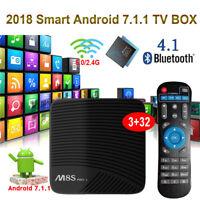 3+32G M8SPRO L Android 7.1 S912 Octa core TV BOX WIFI 4K H.265 Media Dual WIFI