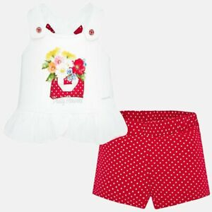 New Mayoral Baby Girl shorts and t-shirt set, Age 6 months, (1205)