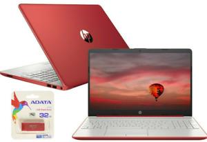 NEW HP 15.6 HD Red Laptop Intel Dual Core 2.4GHz 4GB RAM Windows10 Webcam Bundle