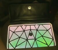 SUPER COOL💥💥Geometric Wallet diamond Women Clutch Coin 👛 💥HOLOGRAPHIC