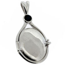 7g Solid 925 Sterling Silver Black CZ Locket H2O Just Add Water Mermaid Pendant