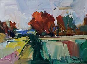 JOSE TRUJILLO Oil Painting IMPRESSIONISM ORIGINAL LANDSCAPE EXPRESSIONISM NR