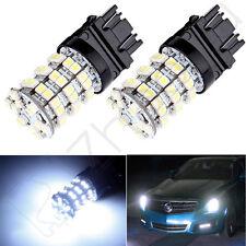 2pcs LED Pure White 60-3528-SMD 3457 3157 Backup Reverse Tail Stop Lights Bulbs
