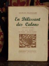Blanchard En Délissant des Calons  Patois Bourgogne Illustré par Toscan
