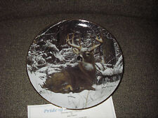 """DANBURY MINT PRIDE OF THE WILDERNESS """"WINTER STAG"""" COLLECTOR'S PLATE DEER"""