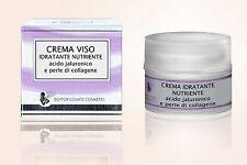 Dottor Colato Crema Viso all'acido jaluronico e perle di collagene 50ml