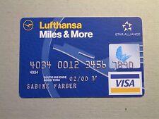 Werbekarte Lufthansa - Miles & More - Postkarte - Motiv wie Kreditkarte