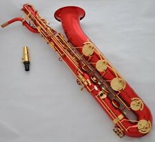 Professional Red Dragon Eb baritone saxophone Low A High F# sax with case