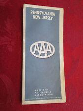 Pennsylvania New Jersey Aaa 1965 Edition Map