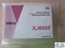 Yamaha manual del propietario XJ600S
