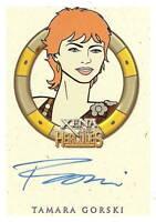 Hercules Xena Tamara Gorski as Morrigan autograph auto insert trading card