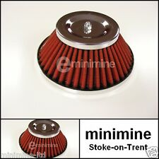 """Classic Mini Cone Type Air Filter for 1"""" 3/4 Carb HIF austin morris mg k&n style"""