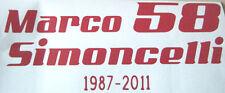 Marco Simoncelli 58 Vinilo Coche, Moto Moto Gp Homenaje Decal Sticker FREEPOST